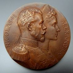 MEDAL COMMEMORATING THE VISIT OF EMPEROR NICHOLAS II AND ALEXANDRA TO – Gold Stream Boutique