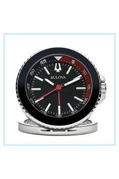 Star Watch, Travel Alarm Clock, Elapsed Time, Bezel Ring, Bulova, Night Time, Compact, Lens