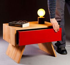 Skuffu Nightstand by Nord Architecture. >> Such an awesome piece!