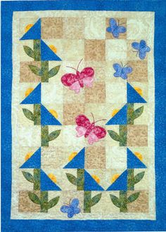 Bluebell Meadow Quilt Pattern Download by Cottage Quilt Design available now at connectingthreads.com for just $9.00  »