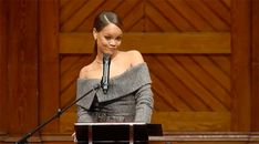 """(((Oh, and here's this GIF for your own personal use.)))   Rihanna Opened Her Harvard Humanitarian Award Speech With """"So I Made It To Harvard..."""""""