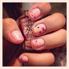 Hello Kitty nail art Hello Kitty Nails, Cat Nails, Nail Art, Beauty, Nail Arts, Beauty Illustration, Nail Art Designs