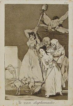 Francisco de Goya - Ya van desplumados, 1799. Los Caprichos nº 20.