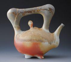 Teapot  woodfired, anagama, porcelain