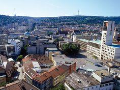 Rathaus Stuttgart mit Marktplatz