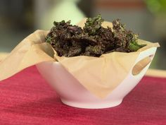 Chocolate Kale Chips from CookingChannelTV.com