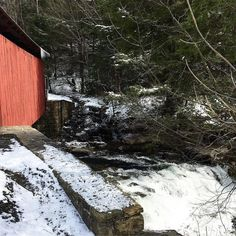Finally found our way to the Packsaddle Covered Bridge after many GPS issues! #lost  #wandering #roadtrip #middleofnowhere #pennsylvania #snow #coveredbridge #food #foodporn #foodgasm #foodstagram #foodpics #foodblogger #foodblog #recipe #faithhopeloveandlucksurvivedespiteawhiskeredaccomplice #vais4bloggers #vafoodie #yum #cats #instayum #instagood #igdaily #bestoftheday #yummy #picoftheday #instalove