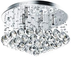 Jago Kristall Deckenleuchte A++ bis E, 6 x G9 max. 40 W | Kristall Lüster, Kronleuchter, Pendelleucte, Hängeleuchte | für Wohnzimmer, Schlafzimmer, Küchen, Esszimmer: Amazon.co.uk: Lighting Crystal Ceiling Light, Ceiling Pendant, Pendant Lamp, Ceiling Lights, Hanging Crystals, Living Room Lighting, Led, Hanging Lights, Light Fixtures