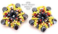 Little Darling Starfish pattern for earrings!  Beadweaving by BiancMolenDesigns, €3.75