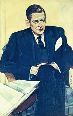 Wyndham Lewis Portraits - Exhibition T.S. Eliot (1949) National Portrait Gallery (NPG 5739) © The Estate of Mrs G.A. Wyndham Lewis: The Wyndham Lewis Memorial Trust