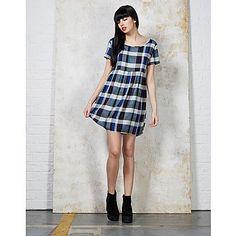 Hearts and Bows Becky Tartan Dress   ARK Clothing #ss15 #tartan #blue #check #dress