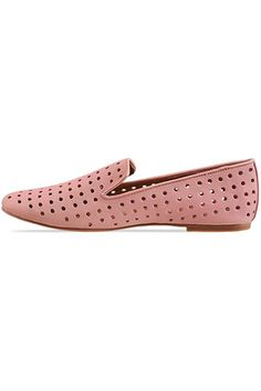 love these perforated loafers (& the color!)