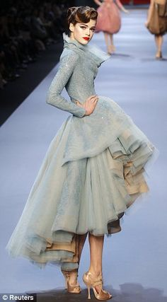 John Galliano (1/11) for Christian Dior inspired by the illustrations of René Gruau.