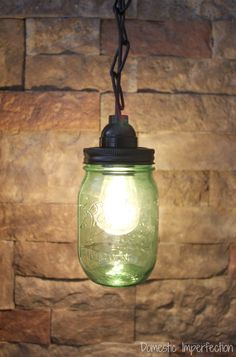 You know those projects that should be really easy.the ones that should take you less than an hour but end up being a complete time suck and turn out NOTHING like you had planned? Mason Jar Crafts, Mason Jar Diy, Mason Jar Lamp, Mason Jar Pendant Light, Mason Jar Lighting, Green Mason Jars, Tree Bookshelf, Craft Projects For Kids, Diy Projects