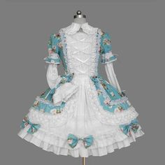 Classic Lolita in Teal Floral $71
