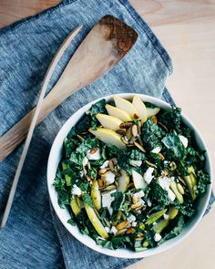 kale salad with pears // brooklyn supper