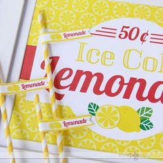 Darling Lemonade Stand Printables