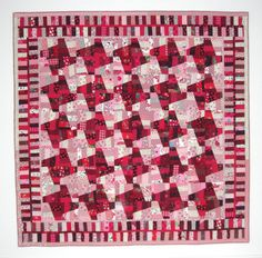 Red & White Quilt HoundsTooth Quilt Improv by KarenGriskaQuilts, $750.00