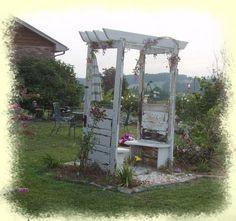 garden bench from old door