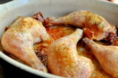 ROAST CHICKEN LEGS AND THIGHS  Adapted from Thomas Keller's Favorite Simple Roast Chicken