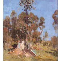 Arthur Ernest Streeton - Impression Bronze, Cream, Blue, 1930 x cm). Australian Artists, Art Market, Landscape Paintings, Oil On Canvas, Modern Art, Bronze, Fine Art, Artwork, Prints