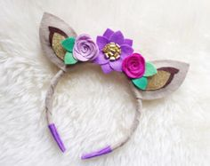 Ciervo Antler corona diadema / / boho corona de flor de
