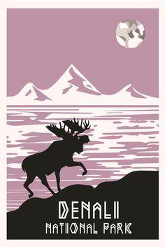 Alaska Denali National Park Poster by TroyGIFT on Etsy