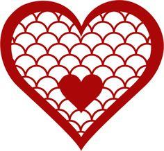 Designer Cuts : svg file - SCALLOPED HEART