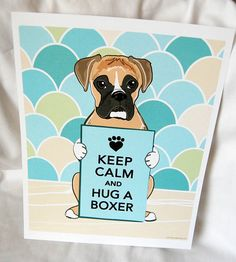 Or in our case the boxer will hug you! He even looks like our Buster!