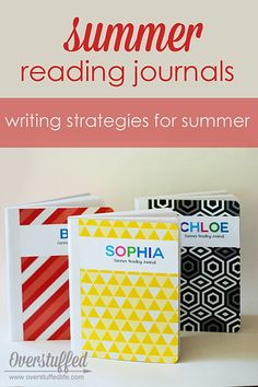 Use inexpensive composition notebooks to make summer reading journals for your kids. This post also highlights great ways to get your kids reading AND writing this summer! Vocabulary Exercises, Writing Exercises, Summer School, Summer Kids, Just In Case, Just For You, Summer Journal, Writing Activities, Writing Strategies