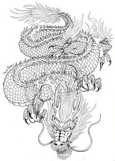 Japanese dragon tattoo concept by NocturnalSong23