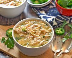 EASY Spicy White Chicken Chili! New favorite comfort food for fall and winter. Made in 30 minutes! | The Cookie Rookie