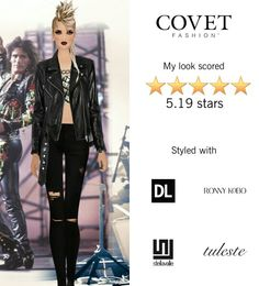 Covet Fashion Game. Look: Rock-n-Roll Royalty