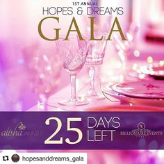 #Repost @hopesanddreams_gala with @repostapp ・・・ THE COUNTDOWN BEGINS!!! 25 days till the most anticipated gala of the year! The Hopes and Dreams Gala present to you by @alishajanniff and @billionairevnts! Proceeds to the @diabetescanada Come celebrate in style, with an evening full of glitz, glamour, entertainment  and much more. Come out and support a great cause.  Make sure to follow us on IG @hopesanddreams_gala and Facebook: Hopesanddreamsgala  TICKETS NOW AVAILABLE! $60 general tickets…