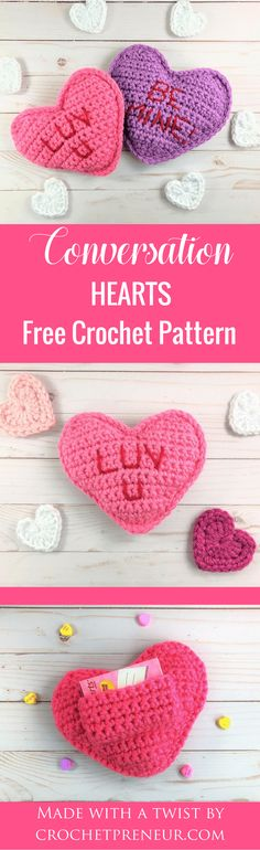 This is an adorable idea for a teacher's gift, teen gift or Valentine's Day gift for anyone. The little pocket in the back is the perfect size to hold a box of candies or, even better, a gift card! #valentinesdaycrochetpattern #freecrochetpattern #crochet