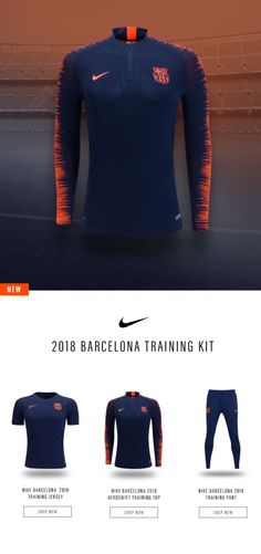 Introducing the NEW 2018 FC Barcelona training gear for 2018. Available now at http://worldsoccershop.com/?utm_campaign=coschedule&utm_source=pinterest&utm_medium=World%20Soccer%20Shop