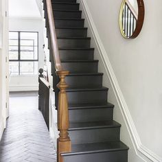 "Another shot from today's post!  More ""standout stairway"" images on Beckiowens.com.  Have great night!  Image via @remodelista"