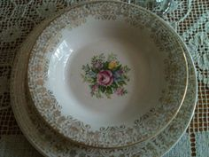 antique dishes | Digging out my vintage plates that I just love and really only use at ...