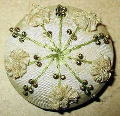 Hand Made Victorian Beaded Button