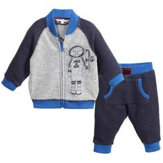 Little Marc Jacobs Baby Boys Navy Blue Tracksuit at Childrensalon.com