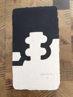 Eduardo Chillida. Zubibegi. 1984. Eau-forte. 50 ex. 20.5 x 12 cm. Van der Koelen 84003
