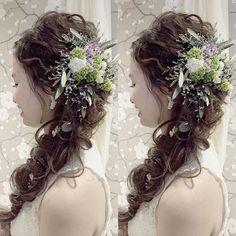 * ************ wavy hair〰 ************ * * #ブライダルヘア#ブライダルヘアメイク#ヘアアレンジ#ヘアセット#ヘアメイク#ウェディング#出張ヘアメイク#ヘアアクセサリー#ウェディングドレス#プレ花嫁#花嫁準備 #wedding#bridal#bride#hairset#hairarrange#hairstyle#misacostyle