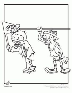 Plants Vs. Zombies Coloring Pages | Cartoon Jr.