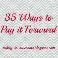 35 ways to pay it forward.