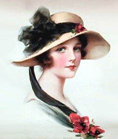 Victorian Lady with a hat