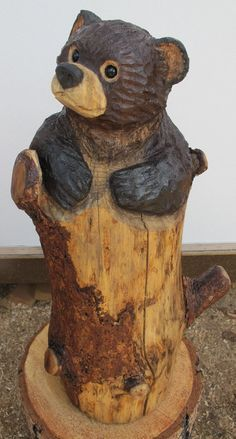 Little+Bear+in+Stump%2C+20+x+8-10%2C+David+V.+Gonzales%2C+Chainsaw+Carving.JPG (859×1600)