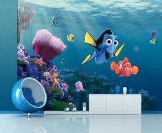 Disney Finding Nemo Wallpaper Mural By WallandMore Collection