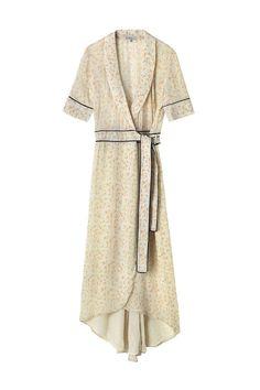 Clermont Georgette Wrap Dress, Meadow Flowers