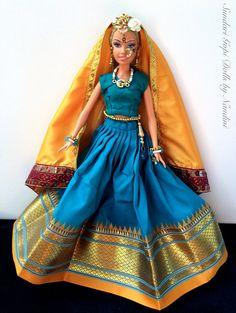 Gopi Doll OOAK Doll Altered barbie doll Nagari por GopiDesigns