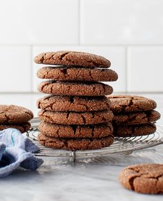 These chewy molasses cookies are perfect for the holidays! They have crisp edges, soft middles, and a rich, spiced flavor from ginger and cinnamon. | Love and Lemons #baking #cookies #holidaybaking #ginger #vegan